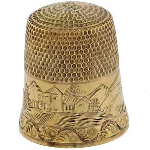 Victorian 10k Yellow Gold Thimble