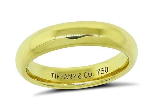 18k Yellow Gold Wedding Band by Tiffany & Co