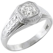 diamond 14k white gold men's ring 1