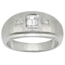 14k white gold diamond mens ring 1
