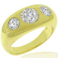 Diamond 14k Yellow Gold Anniversary Ring