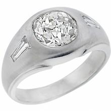 diamond 14k white gold gypsy ring  1