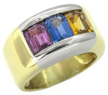 1960s 3.75ct Sapphire 18k Gold Ring