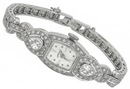 Antique 3.00ct Diamond Hamilton Watch photo 1