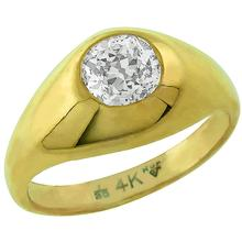 14k yellow gold diamond gypsy ring 1