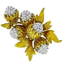 0.50ct Diamond Gold Acorn Pin