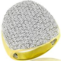 Sonia B 4.00ct Diamond 2 Tone Gold Ring