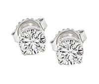 Estate 1.16cttw Diamond Stud Earrings