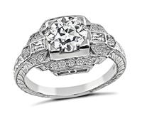 Art Deco Style 1.24ct Diamond Engagement Ring