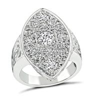Vintage 1.30ct Diamond Gold Ring