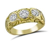 Estate 1.50ct Diamond Three Stone Ring