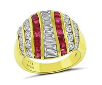 Estate 2.48ct Diamond 1.61ct Ruby Gold Ring