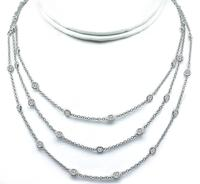 Estate 10.65ct Diamond By The Yard Necklace