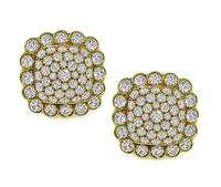 Estate 11.00ct Diamond Gold Earrings