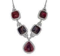 Estate 120.00ct Pink and Brown Tourmaline 8.00ct Diamond Necklace
