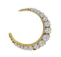 Estate 2.00ct Diamond Crescent Pin