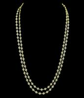Estate 21.90ct Diamond Yellow Gold By The Yard Necklace