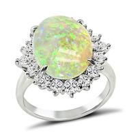 Estate 4.41ct Opal 1.07ct Diamond Ring