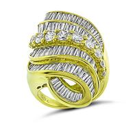 Estate 5.02ct Diamond Gold Ring