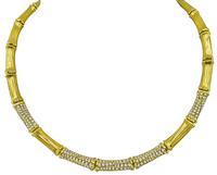 Estate Cartier 5.00ct Diamond Bamboo Necklace