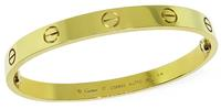 Estate Cartier Yellow Gold Love Bangle
