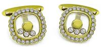 Estate Chopard 1.60ct Diamond Gold Cufflinks