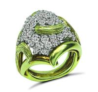Estate 1.90ct Diamond Gold Cocktail Ring