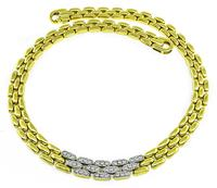 Estate 1.40ct Diamond Gold Necklace