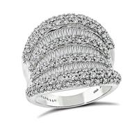 Estate 2.41ct Diamond Gold Cocktail Ring