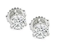 Estate 1.20cttw Diamond Stud Earrings