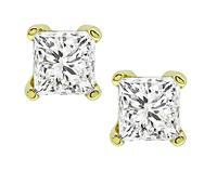 Estate GIA Certified 1.04cttw Diamond Stud Earrings