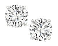 Estate GIA Certified 1.18cttw Diamond Stud Earrings