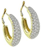 Estate Hammerman Brothers 5.50ct Diamond Earrings