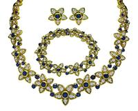 Kurt Wayne Sapphire Diamond Gold Jewelry Set