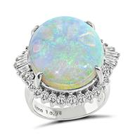 Estate 10.75ct Opal 1.00ct Diamond Ring