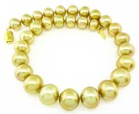 Estate Golden Luster South Sea Pearl Necklace