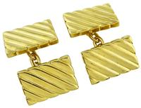 Estate Tiffany & Co Gold Cufflinks