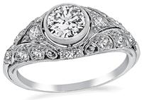Art Deco 0.65ct Diamond Engagement Ring
