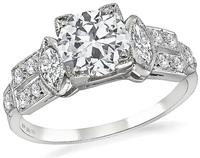 Vintage 1.17ct Diamond Engagement Ring