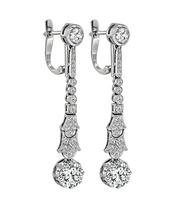 Vintage 2.24ct Diamond Drop Earrings