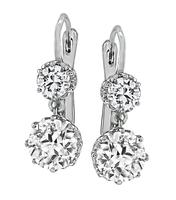 Estate 3.03ct Diamond Drop Earrings