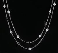 Vintage 4.54ct Diamond By The Yard Necklace