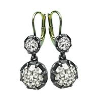 Vintage 5.10ct Diamond Earrings