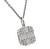 Round and Baguette Cut Diamond 18k White Gold Pendant