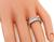 Baguette Cut Diamond 18k White Gold Eternity Wedding Band