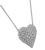 Estate 4.00ct Diamond Heart Pendant Necklace