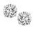 Estate GIA Certified 1.03ct and 1.13ct Diamond Stud Earrings