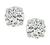 0.57ct and 0.57ct Round Cut Diamond 14k White Gold Studs Earrings