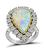 Estate Opal 1.20ct Diamond Gold Ring