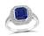 Estate 2.01ct Sapphire 0.60ct Diamond Engagement Ring